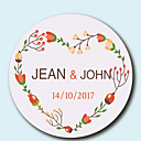 זול מדבקות, תוויות ותגיות-פרחוניים/בוטניים מדבקות, תוויות ותגיות - 10 מעגלי מעטפת מדבקה