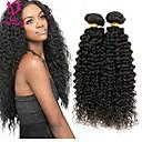 זול תוספות שיער בגוון טבעי-4 חבילות שיער פרואני Kinky Curly שיער אנושי טווה שיער אדם שוזרת שיער אנושי תוספות שיער אדם / קינקי קרלי