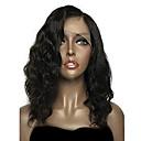 cheap Human Hair Wigs-Remy Human Hair Lace Front Wig Brazilian Hair Wavy Natural Wave Natural Black Wig Bob Short Bob Deep Parting 150% Density with Baby Hair Natural Hairline Unprocessed Pre-Plucked Natural Natural Black