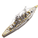 cheap 3D Puzzles-3D Puzzle / Metal Puzzle Military / Battleship Metalic / Stainless Steel 1 pcs Boat Kid's / Adults' Gift