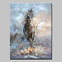 tanie Obrazy: motyw zwierzęcy-Hang-Malowane obraz olejny Ręcznie malowane - Zwierzęta Nowoczesny Brezentowy