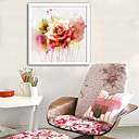 cheap Wall Stickers-Botanical Floral/Botanical Illustration Wall Art,Plastic Material With Frame For Home Decoration Frame Art Living Room