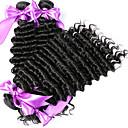 preiswerte USB Kabel-Malaysisches Haar Wogende Wellen Echthaar Foto / Haar-Einschlagfaden mit Verschluss Menschliches Haar Webarten Haarverlängerungen