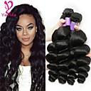 זול תוספות שיער בגוון טבעי-שיער ברזיאלי גלי משוחרר טווה שיער אדם 3 חבילות שוזרת שיער אנושי שחור תוספות שיער אדם