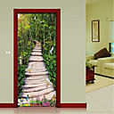 tanie Naklejki ścienne-Naklejki na drzwi - Naklejki ścienne 3D Krajobraz / 3D Gabinet / Office / Domowy