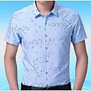 זול אביזרים לגברים-גיאומטרי צווארון קלאסי עבודה חולצה - בגדי ריקוד גברים דפוס / שרוול ארוך