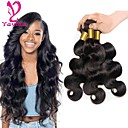 cheap One Pack Hair-3 Bundles Brazilian Hair Body Wave Virgin Human Hair Natural Black Human Hair Weaves / Human Hair Extensions 8-28 inch 150g For Black Women / 8a / Shedding Free Natural Color Human Hair