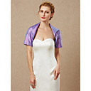 cheap Wedding Wraps-Short Sleeve Taffeta Wedding / Party / Evening Women's Wrap With Shrugs