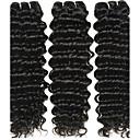 olcso Emberi hajból készült copfok-3 csomag Brazil haj Mély hullám 10A Szűz haj Az emberi haj sző 8-28 hüvelyk Emberi haj sző Human Hair Extensions