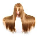 preiswerte Haarzöpfe-Frisiergeräte Künstliches Haar Perücken Mannequin-Köpfe Alltag Klassisch Dunkeles Rotbraun Dunkle Wein Schwarz