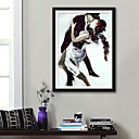 cheap People Paintings-People Sports Illustration Wall Art,Plastic Material With Frame For Home Decoration Frame Art Living Room