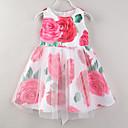 tanie Sukienki dla dziewczynek-Brzdąc Dla dziewczynek Aktywny Impreza Kwiaty Siateczka Bez rękawów Sukienka / Bawełna / Urocza