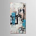 olcso Olajfestmények-Hang festett olajfestmény Kézzel festett - Absztrakt Modern Anélkül, belső keret / Hengerelt vászon