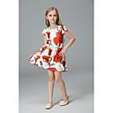 זול שמלות לבנות-שמלה ללא שרוולים רקום / דפוס פרחוני / דפוס / סרוג בית הספר וינטאג' / יום יומי / בסיסי בנות ילדים / כותנה