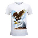 cheap Mascaras-Men's Sports Basic Street chic Plus Size Cotton T-shirt - Geometric Animal, Print Round Neck