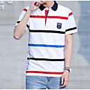 cheap Men's Athletic Shoes-Men's Active Polo - Stripe Shirt Collar / Short Sleeve