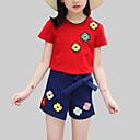 povoljno Kompletići za djevojčice-Djeca Djevojčice Ležerne prilike Dnevno Cvjetni print Cvijet Kratkih rukava Regularna Umjetna svila Poliester Komplet odjeće Obala / Slatko