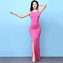 ราคาถูก ชุดเต้นระบำหน้าท้อง-ชุดเต้นระบำหน้าท้อง Outfits สำหรับผู้หญิง การฝึกอบรม Modal ผ่า เสื้อไม่มีแขน สูง ชุดเดรส / กางเกงขาสั้น