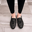 cheap Men's Slip-ons & Loafers-Men's Leather / Suede Spring / Summer Comfort Loafers & Slip-Ons Black / Brown