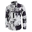 זול מגנים לטלפון & מגני מסך-גיאומטרי סגנון סיני מידות גדולות כותנה, חולצה - בגדי ריקוד גברים דפוס / שרוול ארוך