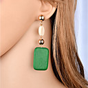 cheap Earrings-Women's Drop Earrings - Fashion, Elegant Orange / Green For Gift Evening Party
