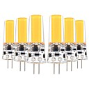 olcso LED Szpotlámpák-YWXLIGHT® 6db 5 W 400-500 lm G4 LED betűzős izzók T 1 led COB Dekoratív Meleg fehér Hideg fehér AC 12V DC 12-24 V
