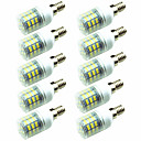 cheap LED Bulbs-10pcs 3W 200lm E14 G9 GU10 E26 / E27 E12 LED Corn Lights T 60 LED Beads SMD 2835 Decorative Warm White Cold White 220-240V