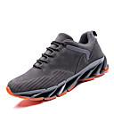 זול נעלי ספורט לגברים-בגדי ריקוד גברים PU אביב / סתיו נוחות נעלי אתלטיקה ריצה שחור / אפור