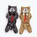 זול בגדים לכלבים-כלבים קפוצ'ונים בגדים לכלבים חיה אפור חום פליז ארקטי תחפושות עבור חיות מחמד חיות חתיכה אחת