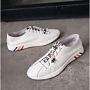זול נעלי בד ומוקסינים לגברים-בגדי ריקוד גברים עור נאפה Leather אביב / קיץ נוחות נעלי ספורט לבן / שחור
