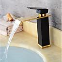 baratos Torneiras de Banheiro-Contemporânea centerset válvula cerâmica única alça de um buraco oil-rubbed bronze pintura preta, banheiro torneira da pia torneiras de banho