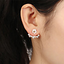 cheap Earrings-Women's Crystal Stud Earrings / Front Back Earrings / Ear Jacket - Silver Plated, Gold Plated Flower, Daisy Sweet Gold / Silver / Rose Gold For Party / Evening / Evening Party
