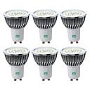 זול נורות לד תירס-YWXLIGHT® 6pcs 7W 600-700lm GU10 תאורת ספוט לד 48 LED חרוזים SMD 2835 לבן חם לבן קר לבן טבעי