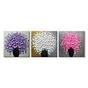 billige LED Økende Lamper-Hang malte oljemaleri Håndmalte - Still Life Blomstret / Botanisk Moderne Lerret