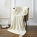 preiswerte Sofadecken & Überwürfe-Strick, Garngefärbt Solide Geometrisch Baumwolle Decken
