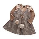 זול כרית-סט של בגדים שרוול ארוך משובץ ליציאה יום יומי / סגנון רחוב בנות פעוטות