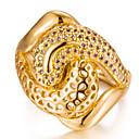 זול טבעות לגברים-בגדי ריקוד נשים זירקונה מעוקבת טבעת הטבעת - ציפוי זהב אופנתי 7 / 8 / 9 זהב עבור חתונה מתנה