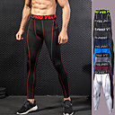 cheap Running Shirts, Pants & Shorts-Men's Black / Red, Black / Green, Royal Blue Sports Solid Colored Tights / Leggings Exercise & Fitness, Running, Gym Activewear Trainer, Fast Dry, Breathability High Elasticity