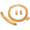 זול סטים של תכשיטים-בגדי ריקוד נשים סט תכשיטים - ציפוי זהב הצהרה, אופנתי לִכלוֹל זהב עבור חתונה Party