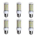 preiswerte Lampenbasen & Steckverbinder-BRELONG® 6pcs 4W 400lm E26 / E27 LED Mais-Birnen 69 LED-Perlen SMD 5730 Warmes Weiß Weiß 200-240V