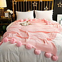 hesapli Battaniyeler ve Şallar-Yatak Battaniyeleri, Solid / Yuvarlak Noktalı Pamuk / Polyester / Polyester Kalınlaştırmak battaniyeler