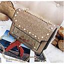 זול תיקי צד-בגדי ריקוד נשים שקיות PU תיק כתף חרוזים / ניטים זהב / שחור / כסף