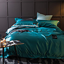 cheap Duvet Covers-Solid 4 Piece Silk Cotton Handmade Silk Cotton 1pc Duvet Cover 2pcs Shams 1pc Flat Sheet