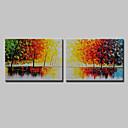 זול ציורי פרחים/צמחייה-ציור שמן צבוע-Hang מצויר ביד - L ו-scape פרחוני / בוטני מודרני בַּד