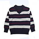 povoljno Džemperi i kardigani za dječake-Dječaci Pamuk Prugasti uzorak Dnevno Praznik Proljeće Dugih rukava Džemper i kardigan Jednostavan Crn
