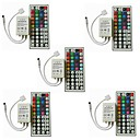 billige LED-lyspærer-5pcs Strip Light Tilbehør / 44keys IR fjernkontroll Plast for RGB LED Strip Light