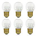رخيصةأون أضواء LED ثنائي الدبوس-BRELONG® 6PCS 3W 300lm E26 / E27 مصابيح كروية LED 17 الخرز LED مصلحة الارصاد الجوية أبيض دافئ 220-240V