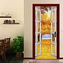 tanie Naklejki ścienne-Naklejki na drzwi - Naklejki ścienne 3D Krajobraz / Kwiatowy / Roślinny Pokój dzecinny / Pokój dla dzieci