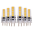 billige LED-lyspærer-YWXLIGHT® 6pcs 4W 300-400lm GY6.35 LED-lamper med G-sokkel T 12 LED perler SMD 5730 Dekorativ Varm hvit Kjølig hvit 12V 12-24V