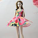 ieftine The Freshest One-Piece-Rochii Rochii Pentru Barbie Doll Roz+verde Poli/Bumbac Amestec de In/ Poliester Rochie Pentru Fata lui păpușă de jucărie